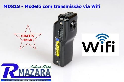 Spy Camera Wifi Mini Câmera Espiã 16 Gb Wifi Md99 Md81s Md99s