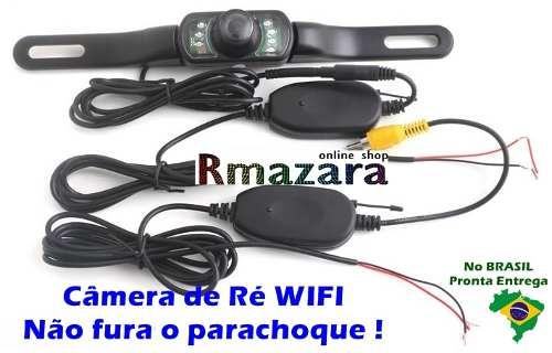 Camera De Ré Wifi Sem Fio Visão Noturna Não Fura o Parachoque