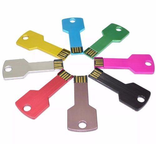 Pendrive Estilo Chave 16gb USB 2.0 Resistente A Impactos