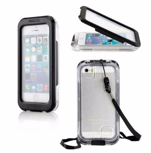 Case A Prova Dágua Para Iphone 5 - 5s Em Pilocarbonato Pu