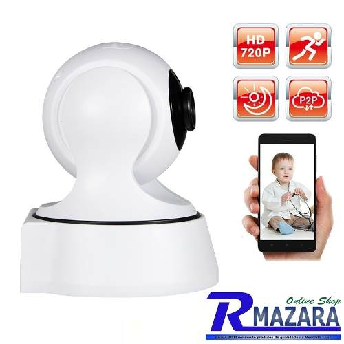 Camera Ip Wifi 720p Pan Tilt Visao Noturna Audio Webcam IP