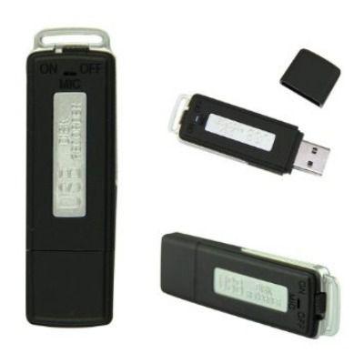 Micro Gravador Voz 8gb Audio Espiao Spy Pen Drive Oculto Usb