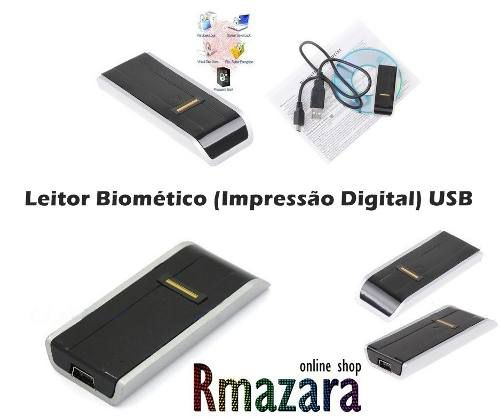 Leitor Biométrico De Impressões Digitais Software Segurança