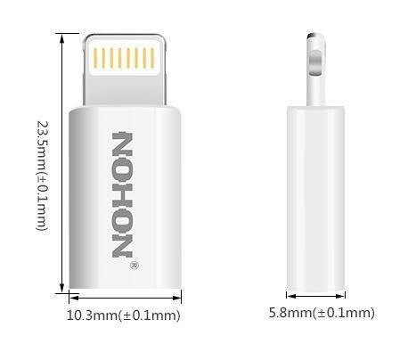 Adaptador Lightning 8 pinos para Micro USB