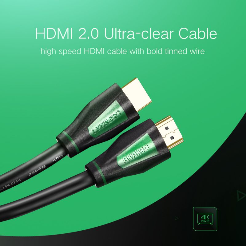 Cabo HDMI Premium Ugreen 2.0 4K 3D 18 Gbps 32 Canais de Áudio