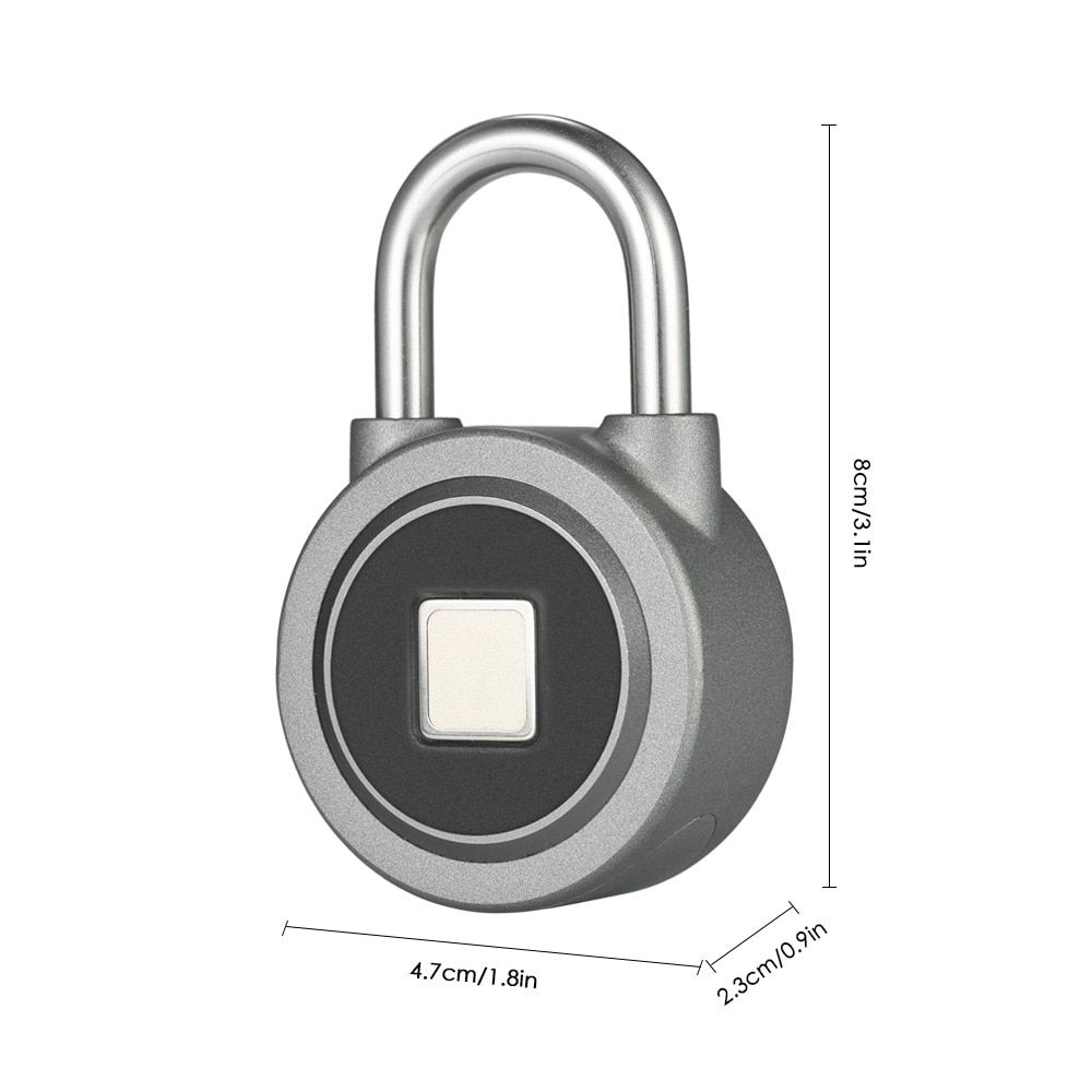 Cadeado Eletrônico com Leitor Biométrico e Acesso via APP iPhone e Android