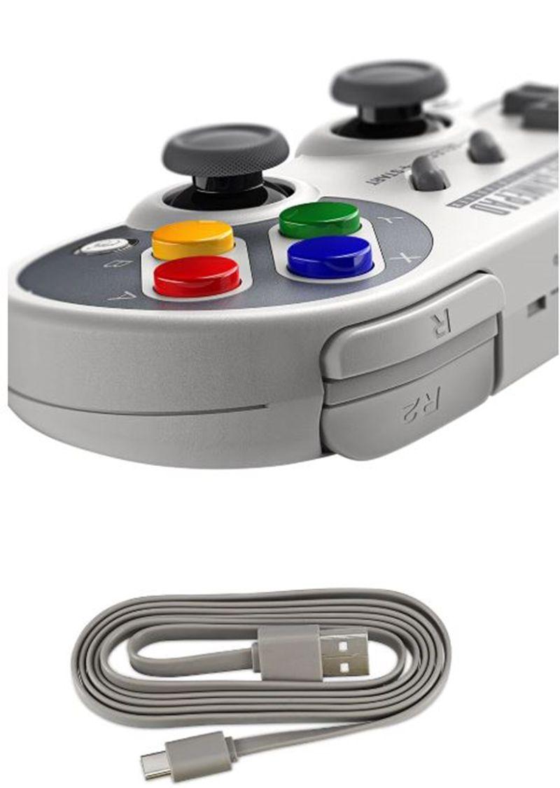 Controle Joystick 8bitdo Sf30 Pro Bluetooth com Holder