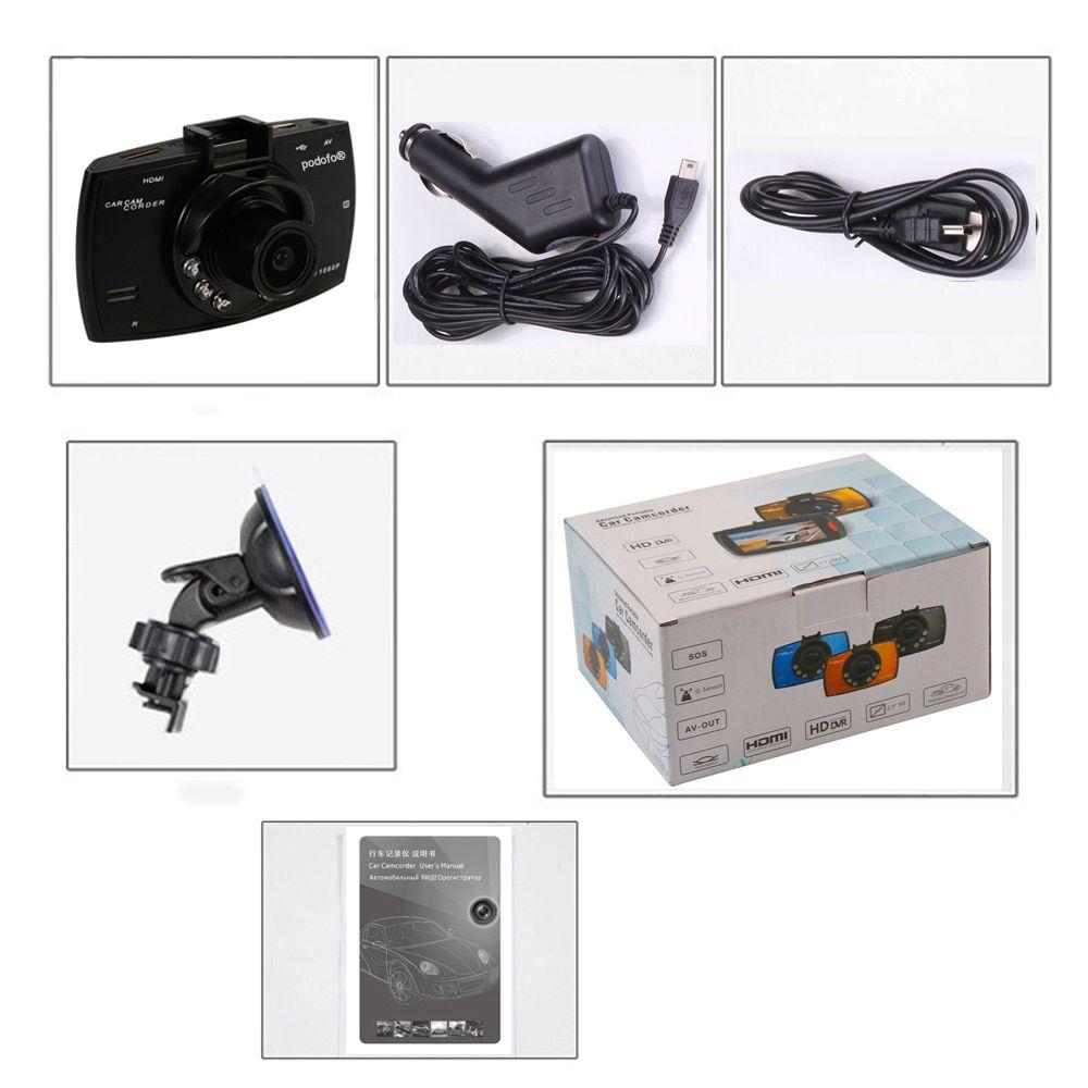 DVR Veicular 1080P Podofo A2 com HDMI NightVision Sensor de Movimento
