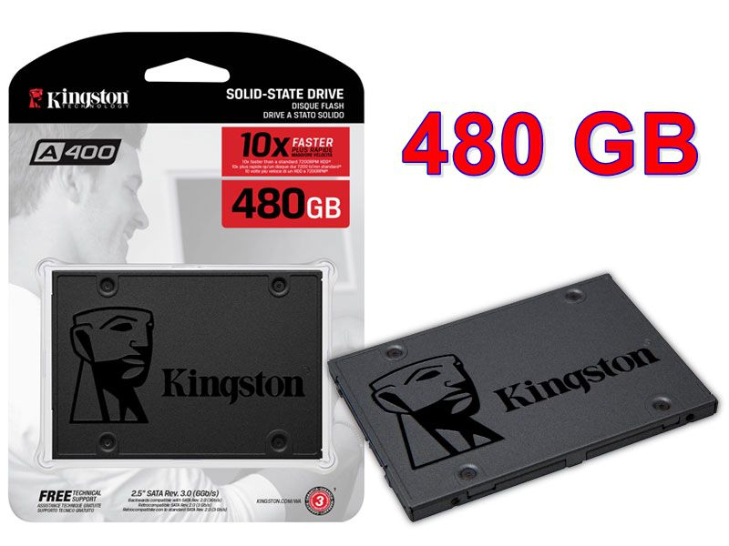 "HD SSD Kingston A400 480gb 2.5"" sata III 6 Gb/s"