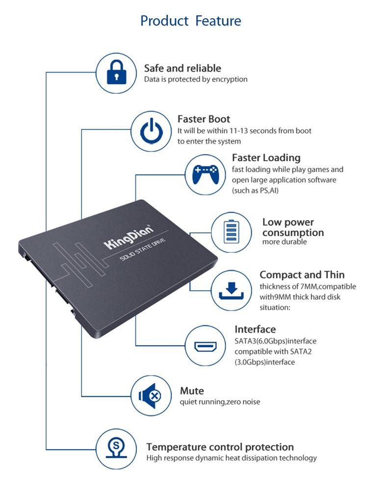 HD SSD SATA III SSD Kingdian S280  – 1TB