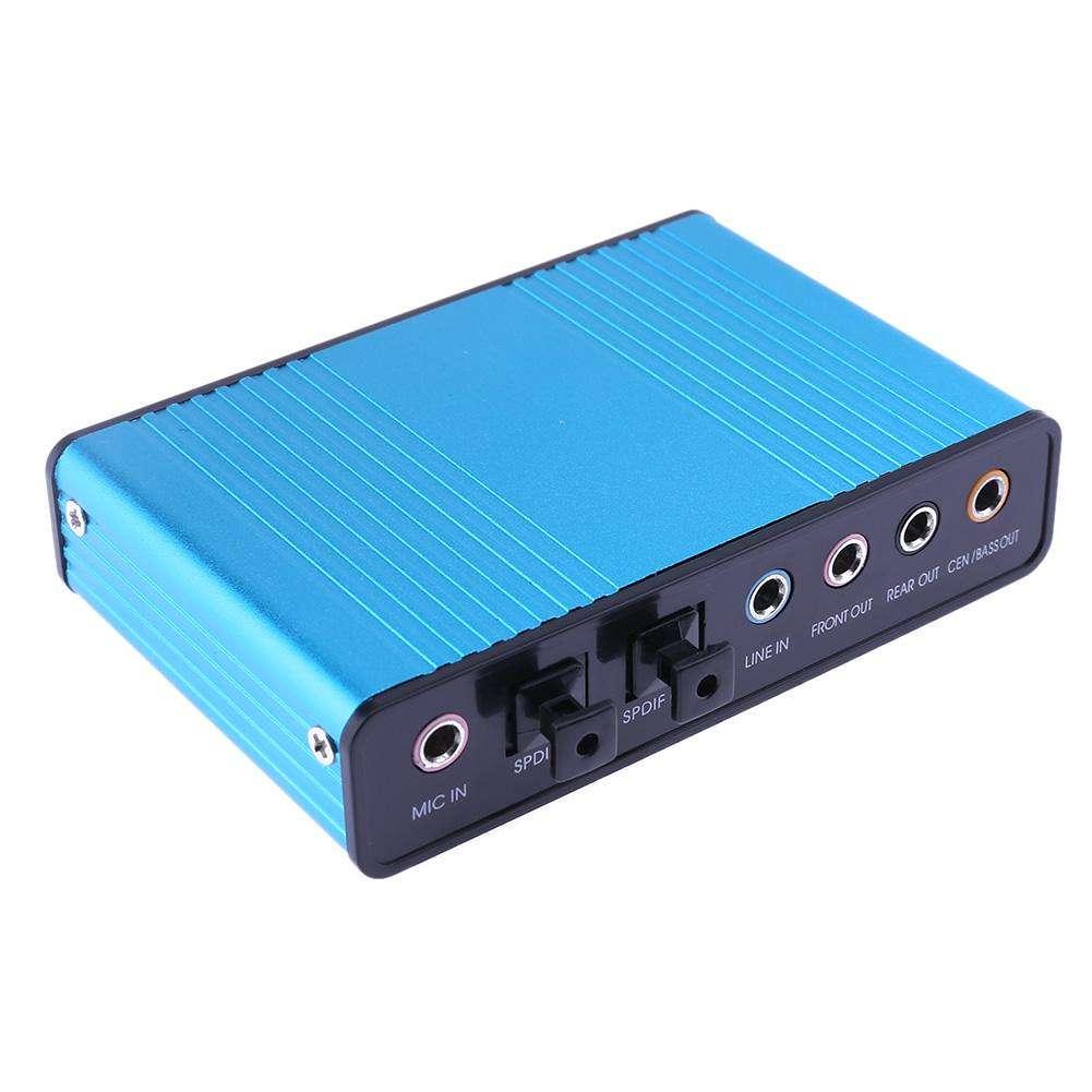 Placa De Som Virtual 7.1 Sound Usb Optico Saída Óptica
