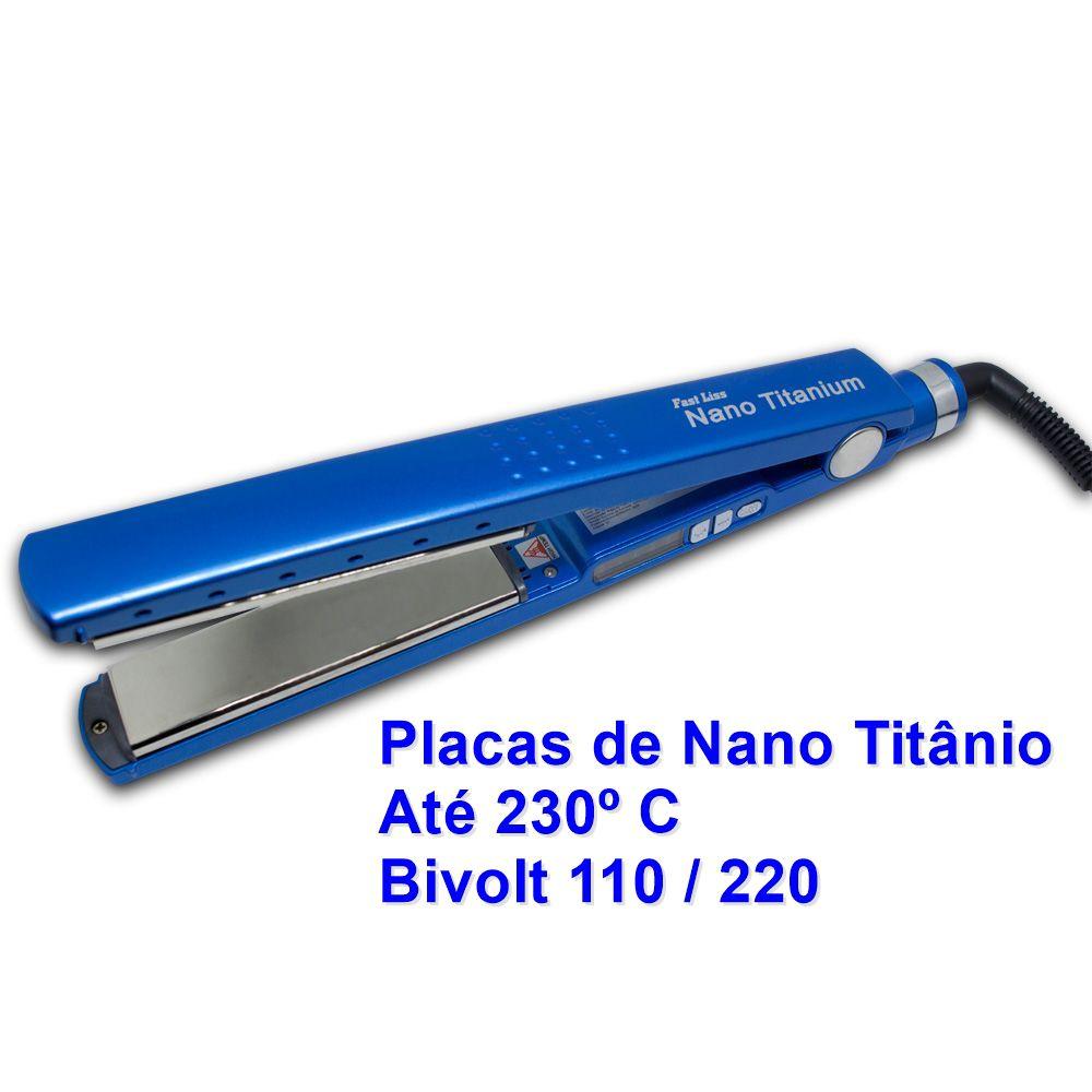 Prancha Alisadora Chapinha Fast Liss Nano Titanium CP300