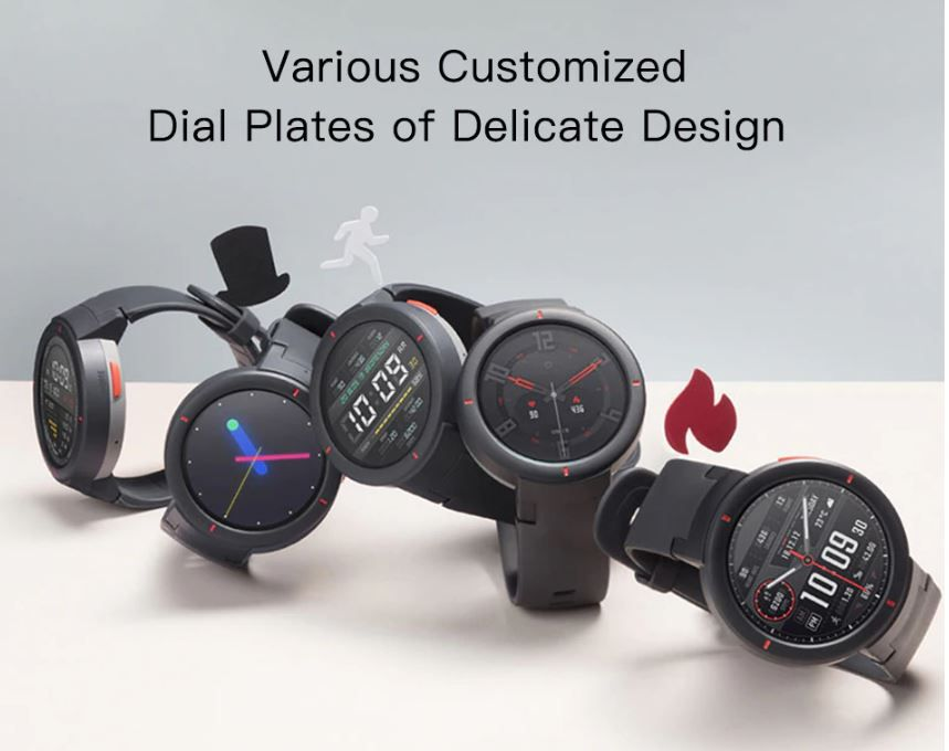 """Smartwatch Amazfit Verge Preto 1.3"""" GPS Monitor Cardíaco"""