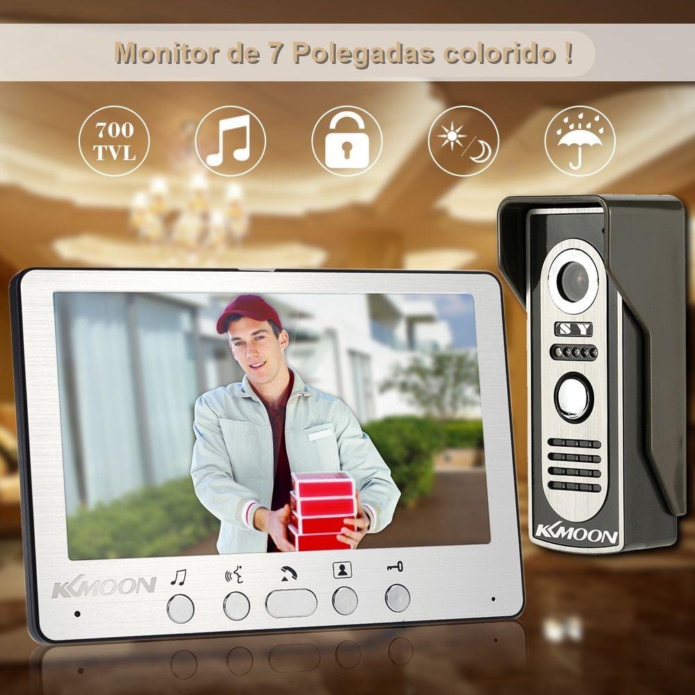 Vídeo Porteiro Eletrônico com Monitor Colorido de 7 Polegadas