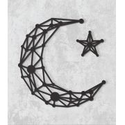 Decorativo 2D - Lua geométrica