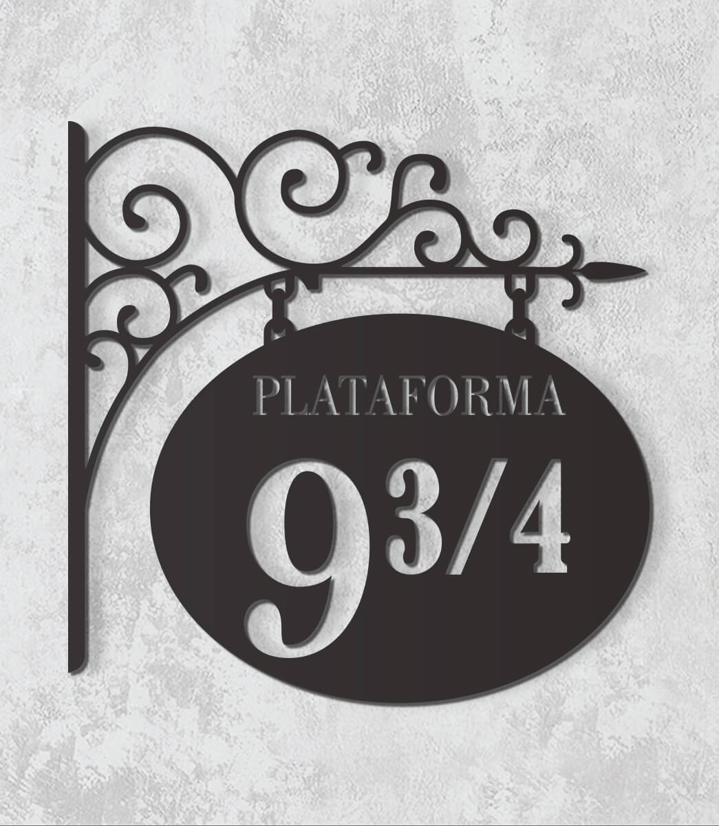 Decorativo 2D - Plataforma 9  3/4