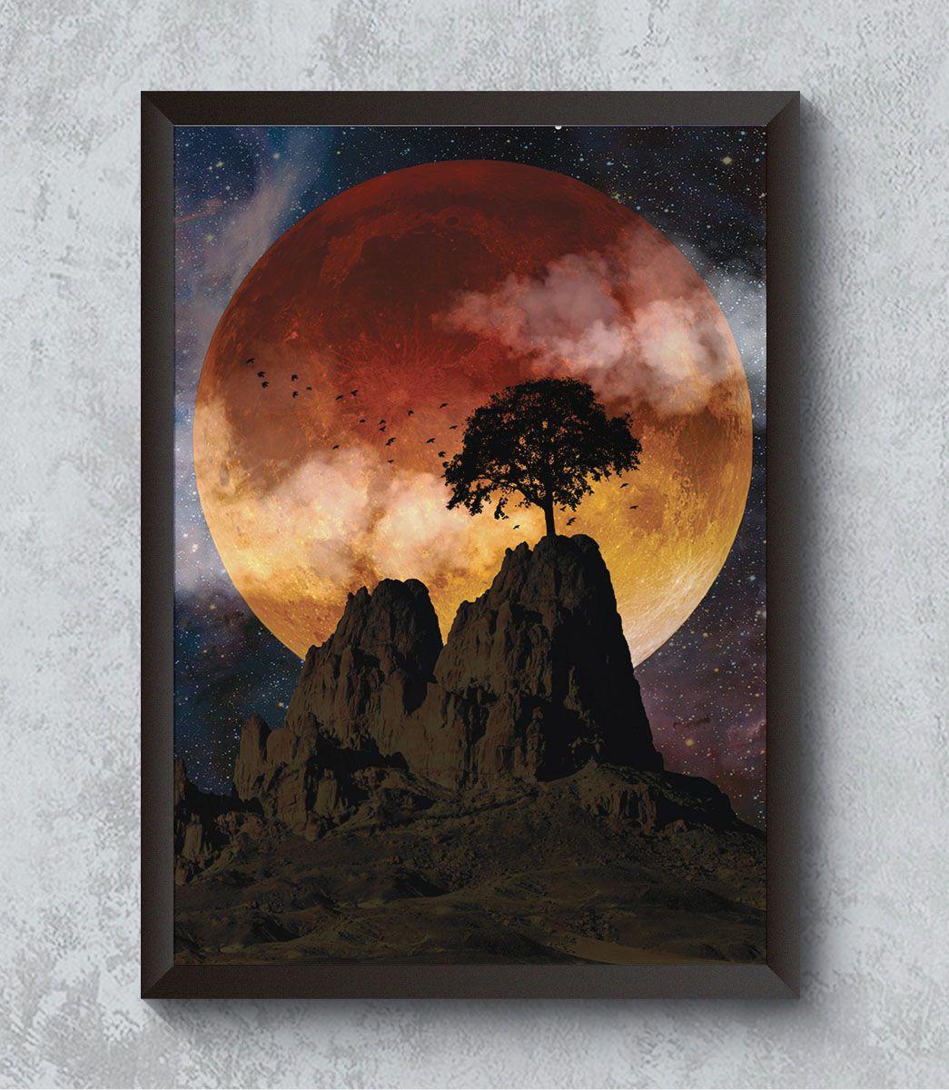 Decorativo - Eclipse vermelho