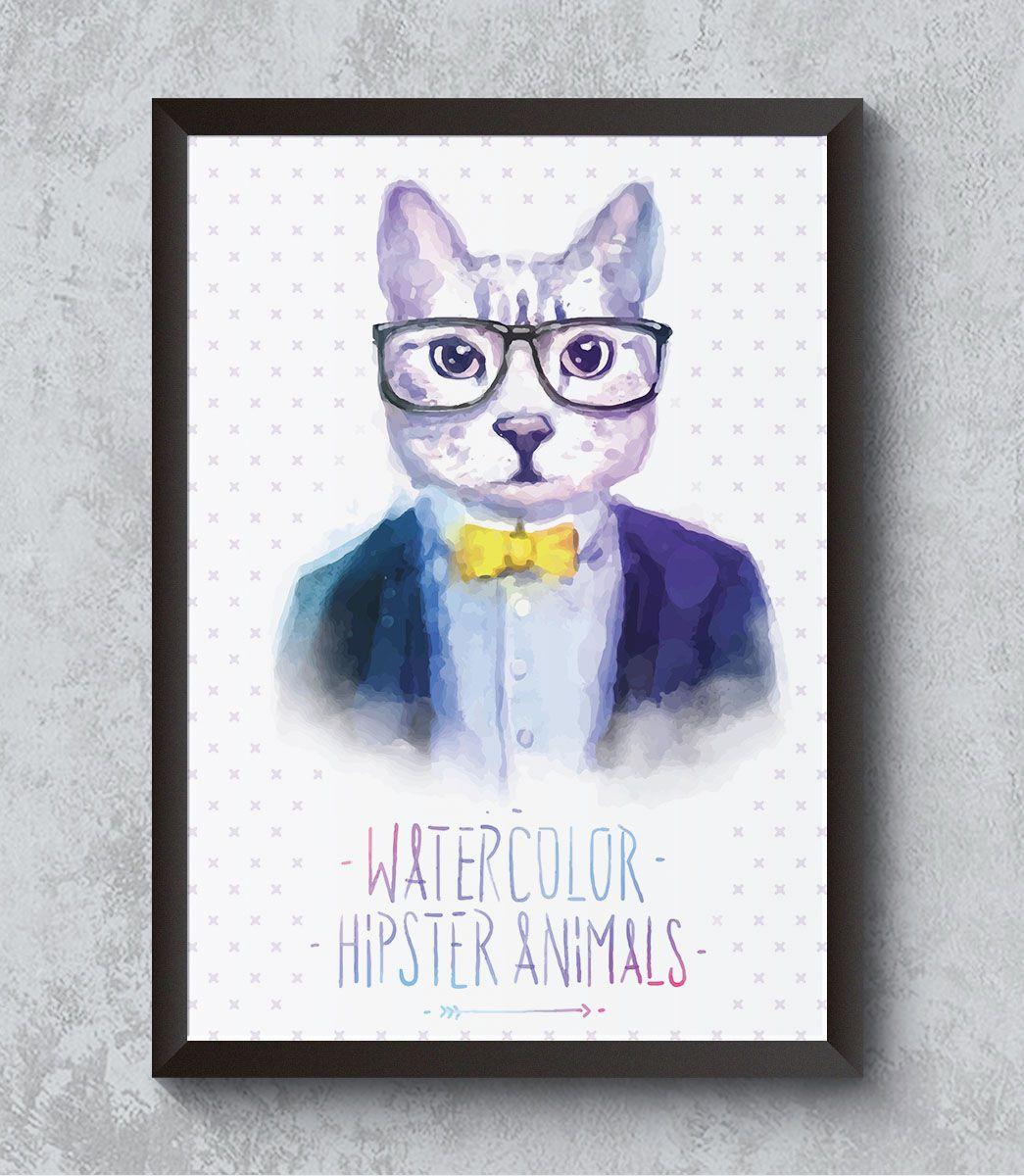 Decorativo - Gato hipster