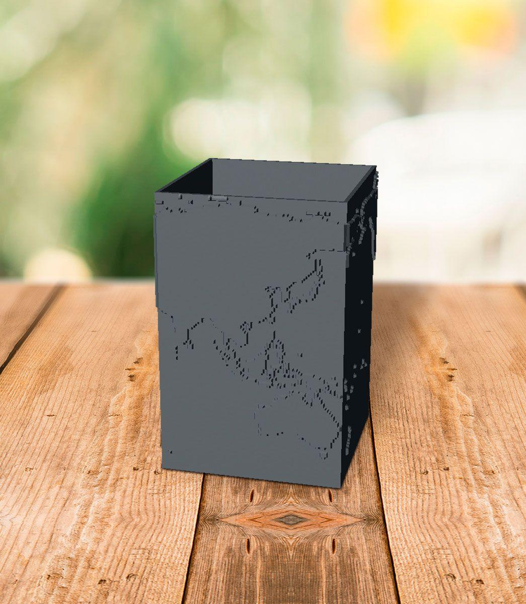 Porta Lápis Mapa do Mundo - Cúbico;