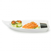 Barca Barco Sushi Açaí Sorvete Melamina Branca 26,2 cm