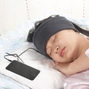 Fone em Algodão Faixa para Dormir Celular com fio Prana Cinza