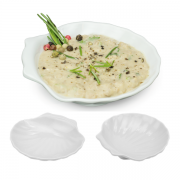 Kit 10 pçs Concha Casquinha Siri Melamina Finger Food 30 Ml