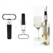 Kit Amigo Secreto Abridor de Vinho Antigo + Aerador e Bastão Resfriador