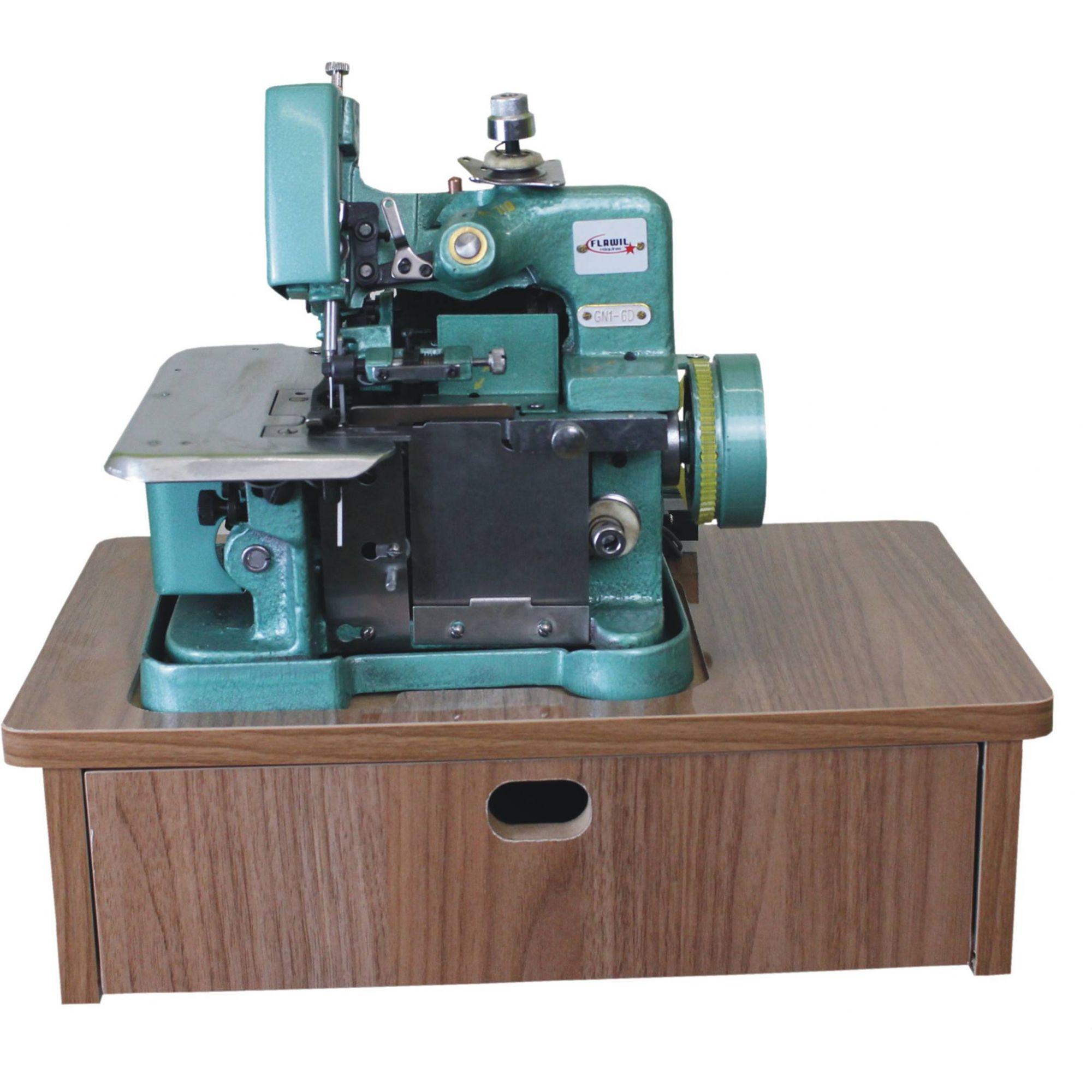 Máquina Overlock Semi Industrial Com Base Gaveta