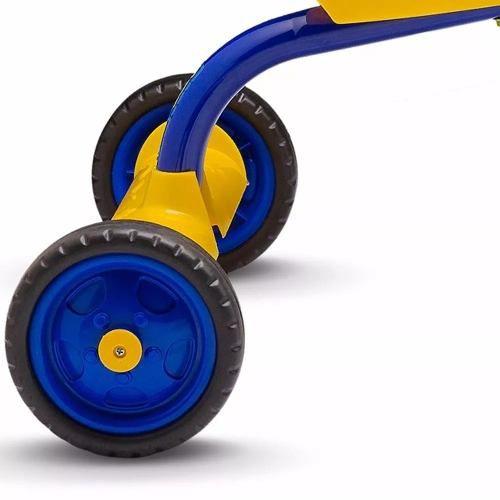 2e1ca66381 Triciclo Motoca Para Menino Boy Nathor Amarelo Azul You3 - Fabrica ...