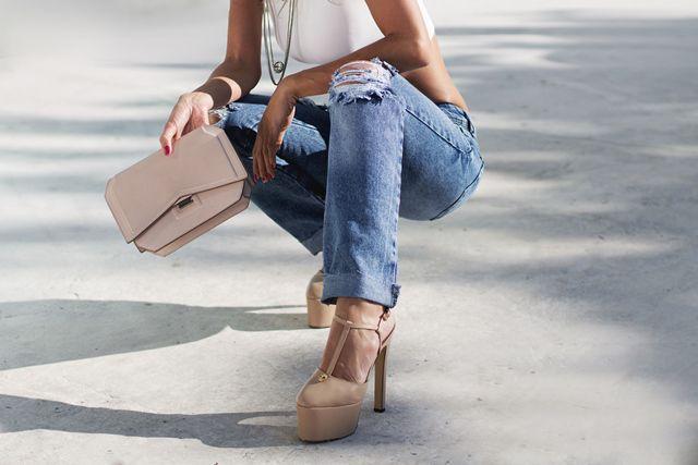 Calça jeans reta oversize jeans médio