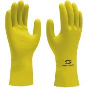 LUVA SUPER SAFETY LATEX AMARELA C.A 33326 DE ( M a XG)