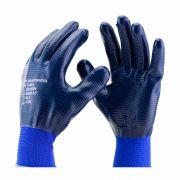 LUVA SUPER SAFETY NP NITRILICA AZUL 1002 CA 32033 DE (M a G)