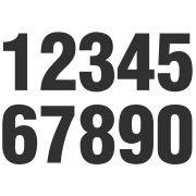 Números Adesivos - NEXUS