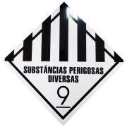 Placa Advertência SUBSTANCIAS PERIGOSA DIVERSAS -9 BC/PT