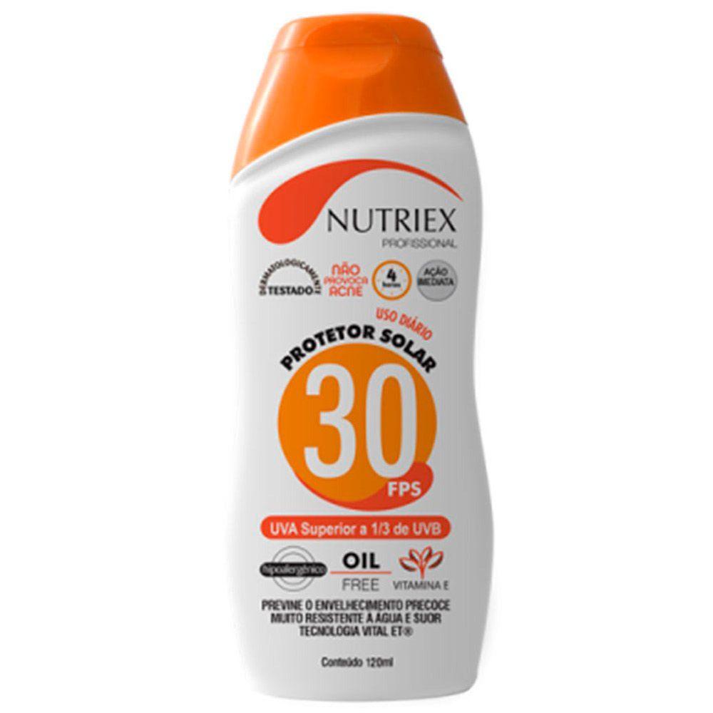 Bloqueador / Protetor solar FPS 30 120 ML - Nutriex   - NEXUSEPI