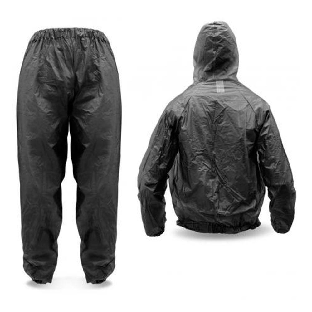 Conjunto Capa / Blusa e Calça de Chuva Impermeável Motoqueiro Fumê Transparente - PIRAVAL (P à GG)  - NEXUSEPI