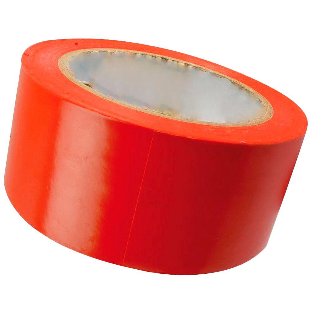 Fita Plástica Demarcação de Chão VERMELHO 30m - PLASTCOR   - NEXUSEPI