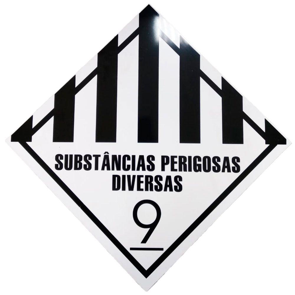 Placa Advertência SUBSTANCIAS PERIGOSA DIVERSAS -9 BC/PT  - NEXUSEPI