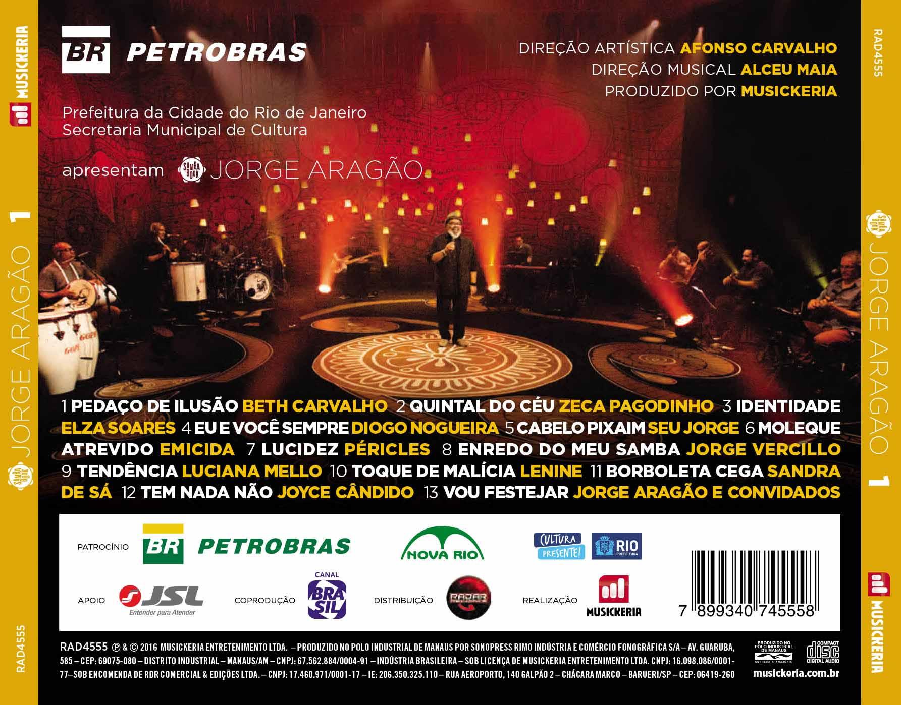 CD Jorge Aragão - Samba Book V. 1