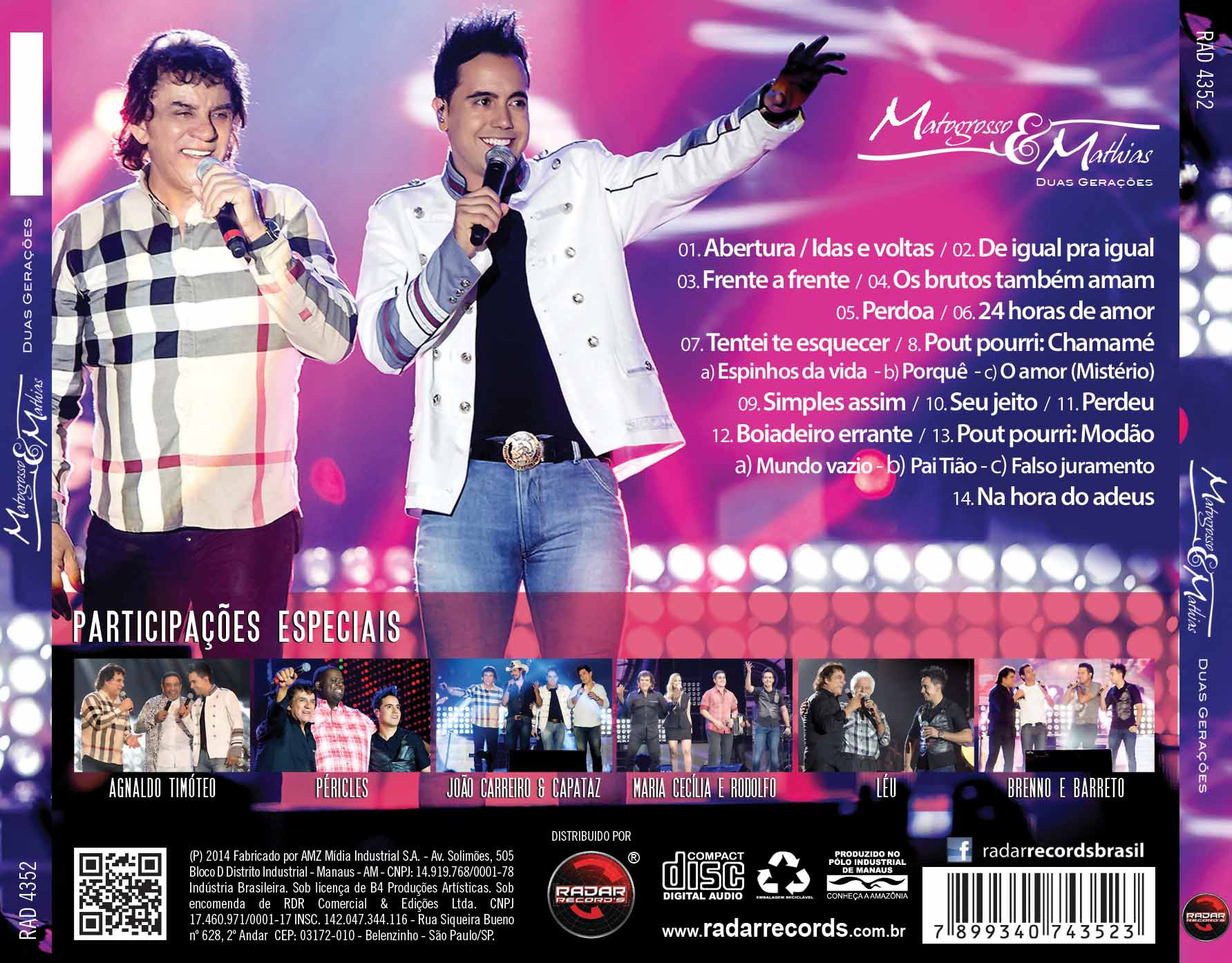 CD Matogrosso & Mathias - Duas Gerações (Ao Vivo)