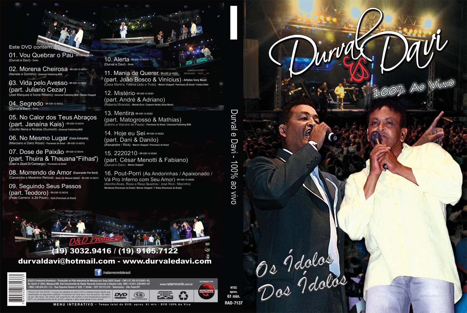 DVD DURVAL & DAVI - 100% AO VIVO