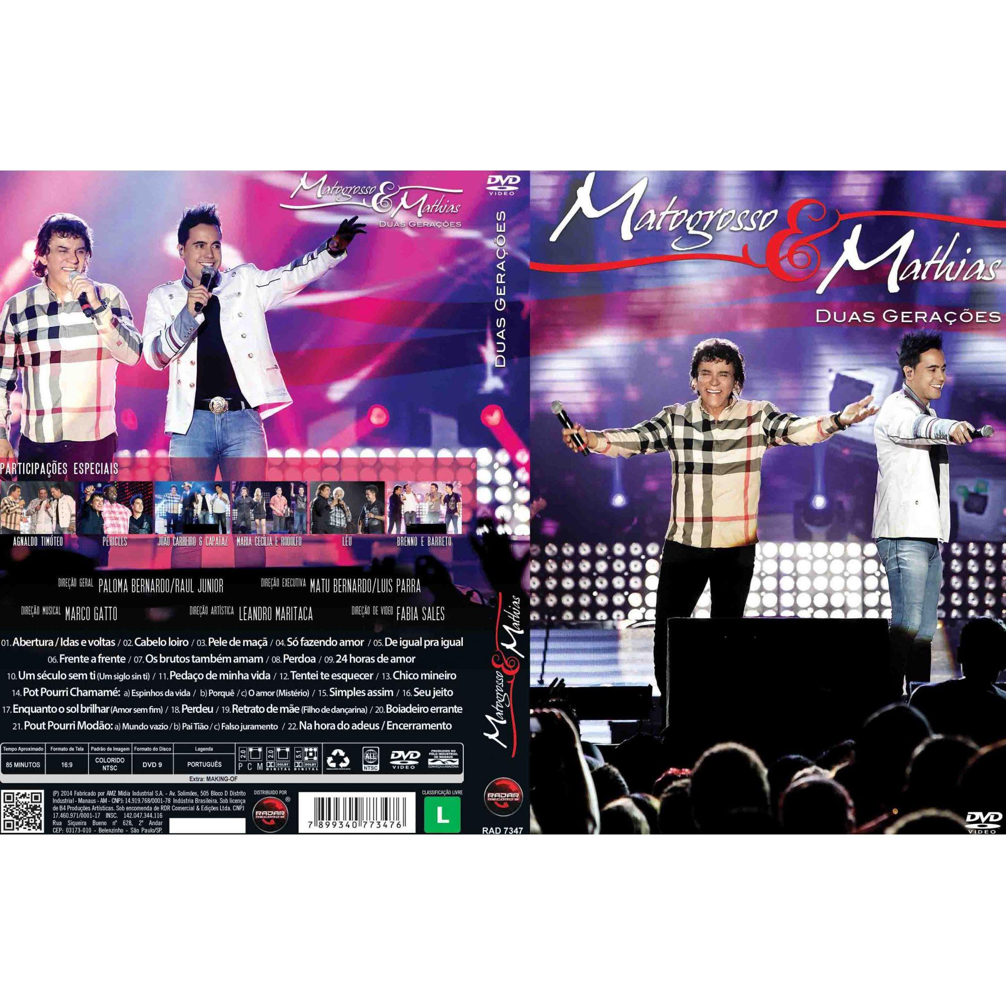 DVD Matogrosso & Mathias - Duas Gerações (Ao Vivo)