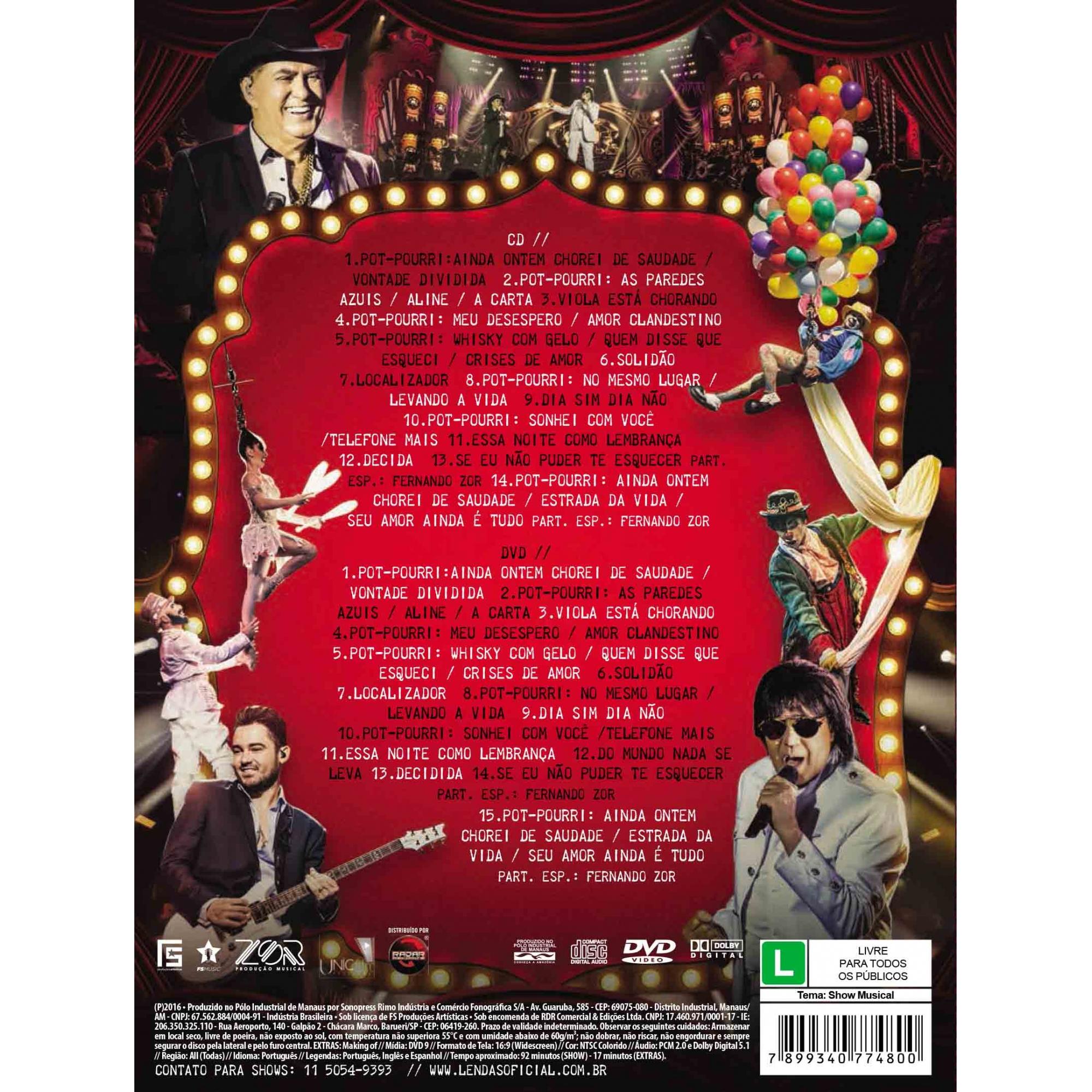 KIT DVD+CD MILIONÁRIO & MARCIANO - LENDAS
