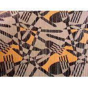 Tapete Passadeira Pvc Kapazi Talheres Abstrato 43cm X 1,00mt