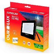 Refletor Superled Projetor Pro Slim 30w Ourolux 6500k Luz Br