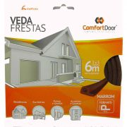 Veda Porta Fresta Marrom Modelo P Comfortdoor 6 Metros