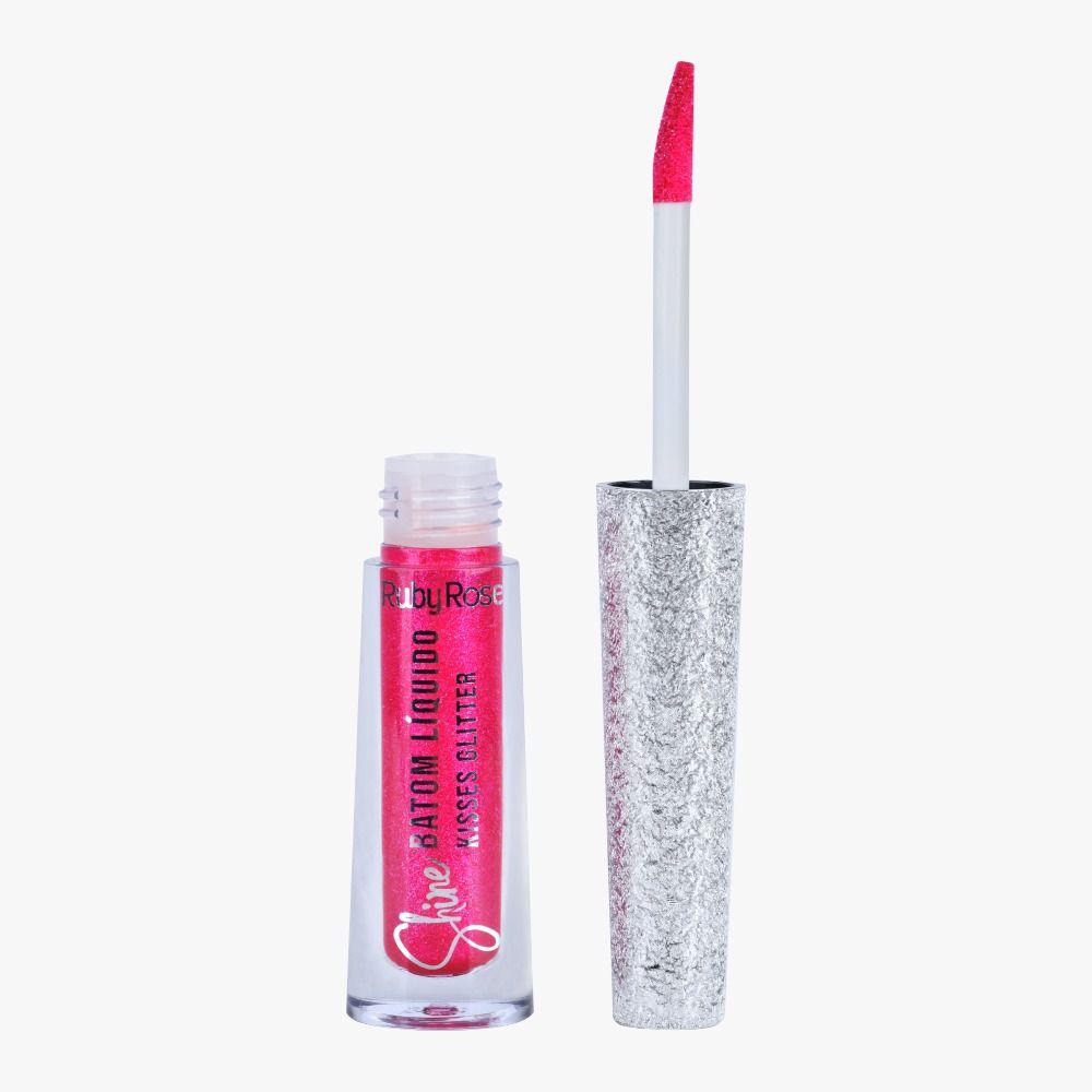 Batom Liquido Shine Kisses Glitter 367