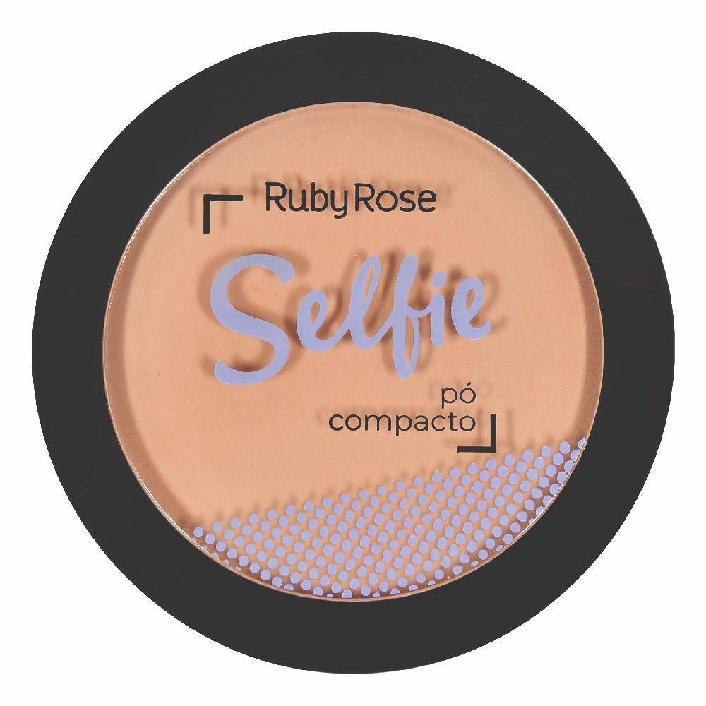 PÓ COMPACTO SELFIE BEGE ESCURO 05 - RUBY ROSE