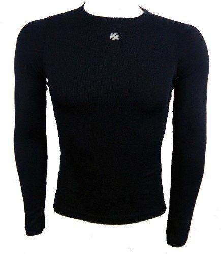 Camisa Termica Segunda Pele Longa Kanxa Alta Compressão Preta ... 3ac41c62d98d2