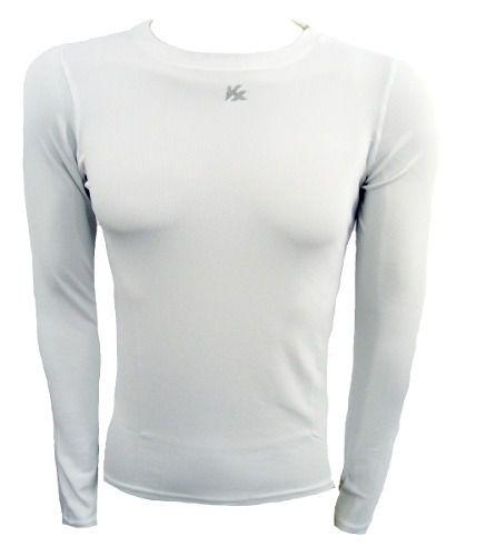 389673053d Camisa Termica Segunda Pele Manga Longa Kanxa - Branca - SPORT ...